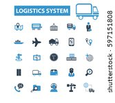 logistics system icons  | Shutterstock .eps vector #597151808