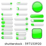 white and green menu buttons.... | Shutterstock .eps vector #597153920