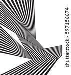 black and white stripe line... | Shutterstock .eps vector #597156674