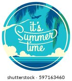 summer holiday and summer camp... | Shutterstock .eps vector #597163460