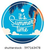 summer holiday and summer camp... | Shutterstock .eps vector #597163478