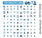 health care icons  | Shutterstock .eps vector #597173528