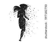 running woman. sport fitness... | Shutterstock .eps vector #597182750