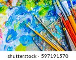 Colorful Artist Palette And A...