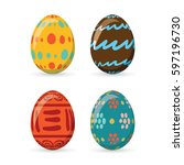 Colorful Easter Eggs Set...