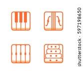 block instrumen icons   piano ...   Shutterstock .eps vector #597198650