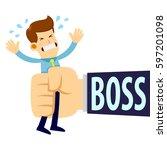 vector stock of a businessman... | Shutterstock .eps vector #597201098