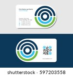 business card for medical... | Shutterstock .eps vector #597203558