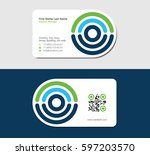 business card for diagnostic... | Shutterstock .eps vector #597203570