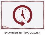 clock icon vector.   Shutterstock .eps vector #597206264