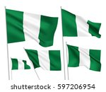 nigeria vector flags set. 5... | Shutterstock .eps vector #597206954