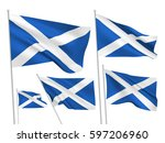 scotland vector flags set. 5... | Shutterstock .eps vector #597206960