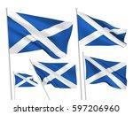 scotland vector flags set. 5... | Shutterstock .eps vector #597206960