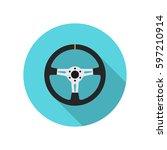 vector steering wheel icon | Shutterstock .eps vector #597210914