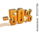 gold sale 50   gold percent off ... | Shutterstock . vector #597217730