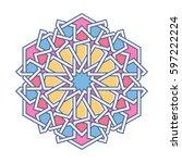 islamic pattern. vector... | Shutterstock .eps vector #597222224
