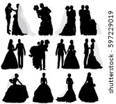 vector  isolated  silhouette of ... | Shutterstock .eps vector #597229019