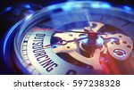 watch face with outsourcing... | Shutterstock . vector #597238328