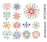 firework vector icon isolated... | Shutterstock .eps vector #597239870