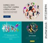 dancing people  dancer bachata  ... | Shutterstock . vector #597239894