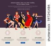 dancing people  dancer bachata  ... | Shutterstock . vector #597241484