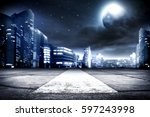background of city street and... | Shutterstock . vector #597243998