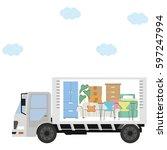 moving truck   Shutterstock .eps vector #597247994