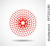abstract dotted circles.... | Shutterstock .eps vector #597251180