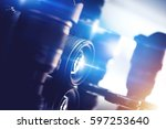 photography and photo studio...   Shutterstock . vector #597253640