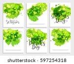 saint patricks day poster or... | Shutterstock .eps vector #597254318