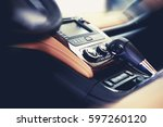 clean car interior. modern... | Shutterstock . vector #597260120