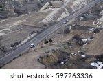aerial   road | Shutterstock . vector #597263336