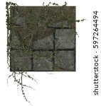 3d ivy runners covering old... | Shutterstock . vector #597264494