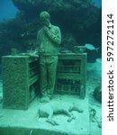 statue under water   Shutterstock . vector #597272114