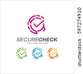 security check logo | Shutterstock .eps vector #597274910