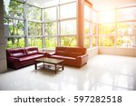 sofa and table  near the... | Shutterstock . vector #597282518