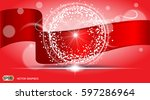 digital vector abstract red... | Shutterstock .eps vector #597286964
