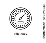 efficiency vector line icon | Shutterstock .eps vector #597291833
