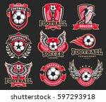 soccer football logo  emblem... | Shutterstock .eps vector #597293918