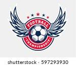 soccer football logo  emblem... | Shutterstock .eps vector #597293930