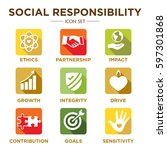 social responsibility solid... | Shutterstock .eps vector #597301868