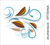 wind and autumn leaves icon ... | Shutterstock .eps vector #59730466