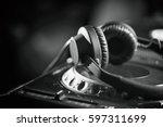 powerful dj headphones made to...   Shutterstock . vector #597311699