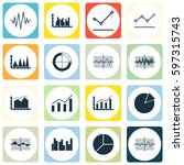 set of graphs  diagrams and... | Shutterstock .eps vector #597315743