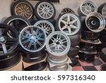 wheel  car wheel  car wheel and ... | Shutterstock . vector #597316340