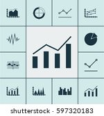 set of graphs  diagrams and... | Shutterstock .eps vector #597320183