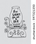 be a light for all to see... | Shutterstock .eps vector #597321350