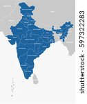 india map | Shutterstock .eps vector #597322283