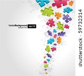 3d colorful puzzle piece vector ... | Shutterstock .eps vector #59732314