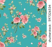 seamless watercolor pattern... | Shutterstock . vector #597326534